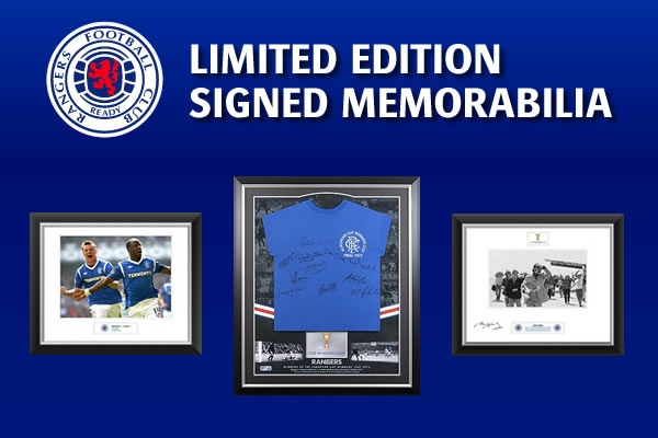 Limited Edition Signed Memorabilia Rangers Football Club