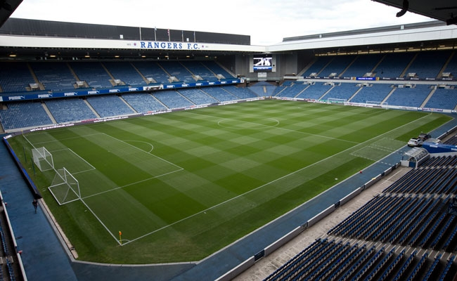 Play On The Pitch At Ibrox Rangers Football Club
