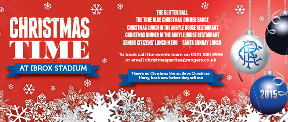 celebrate christmas at ibrox rangers football club official website - How Does England Celebrate Christmas