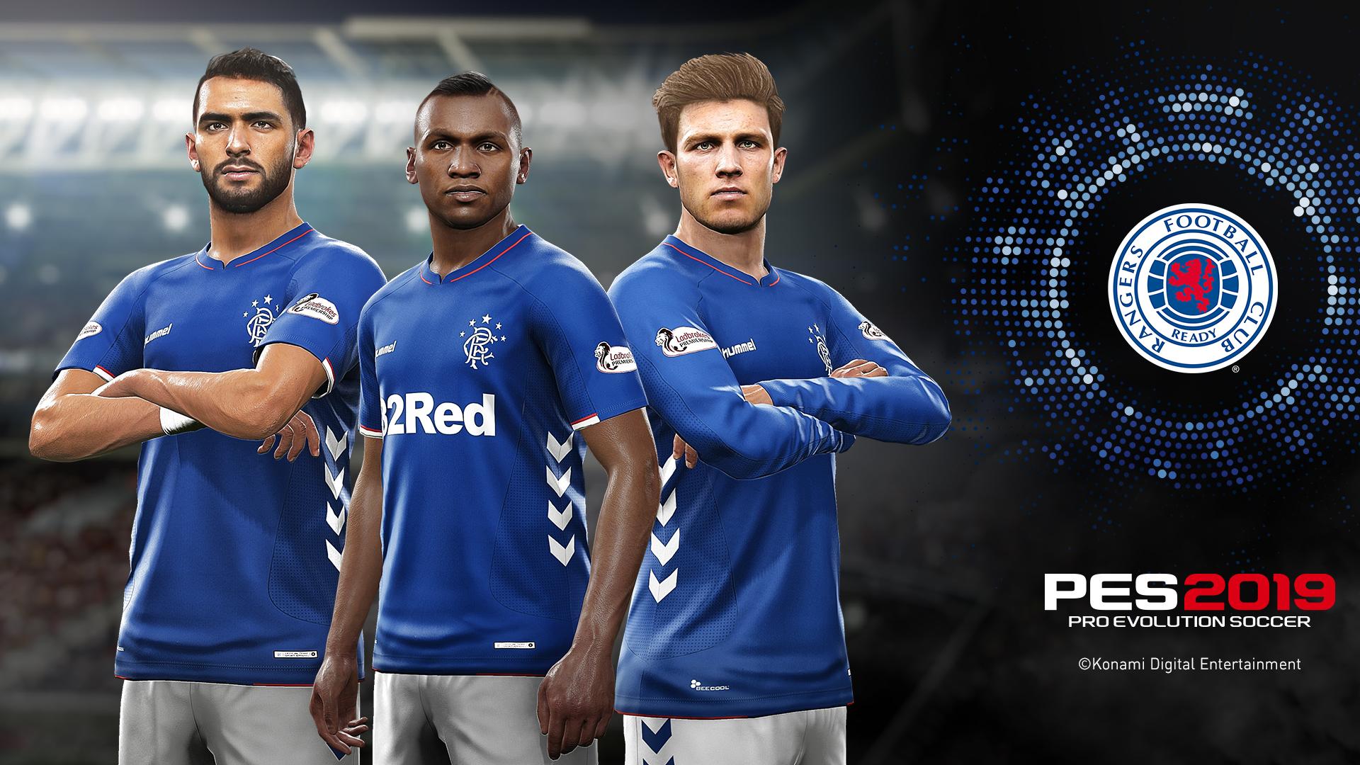 Rangers Announced As New PES 2019 Partner Club - Rangers